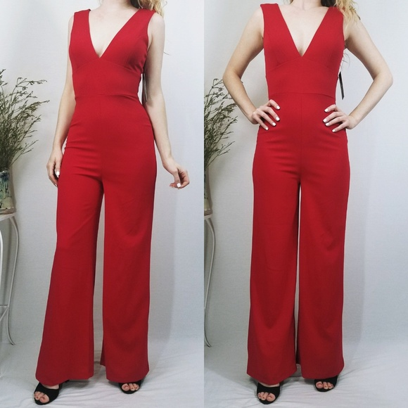ea36bcad474 Lulus Ready For It Red Sleeveless Jumpsuit